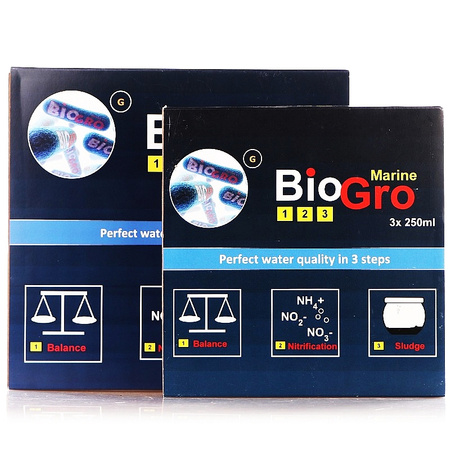 Reef Interest Zestaw bakterii Biogro 3x250 ml