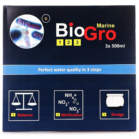 Reef Interest Zestaw bakterii Biogro 3x500 ml